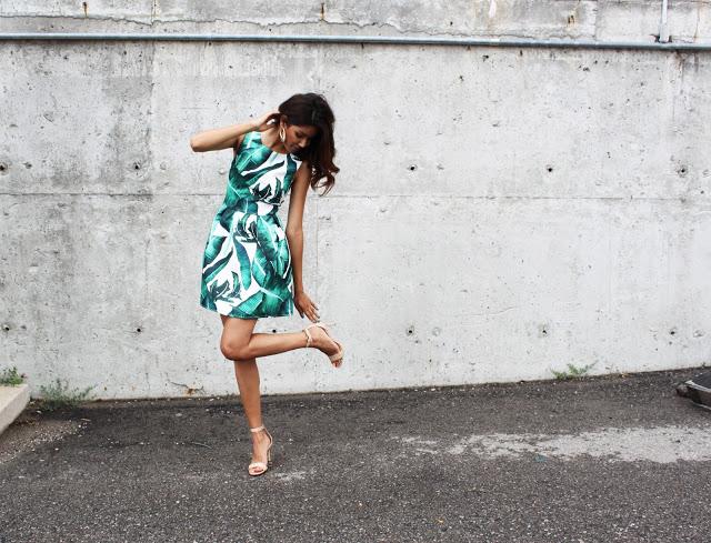 summer palm dress