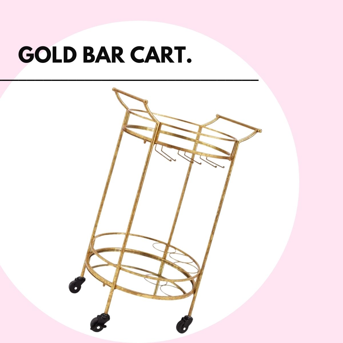 gifts for yourself - gold bar cart