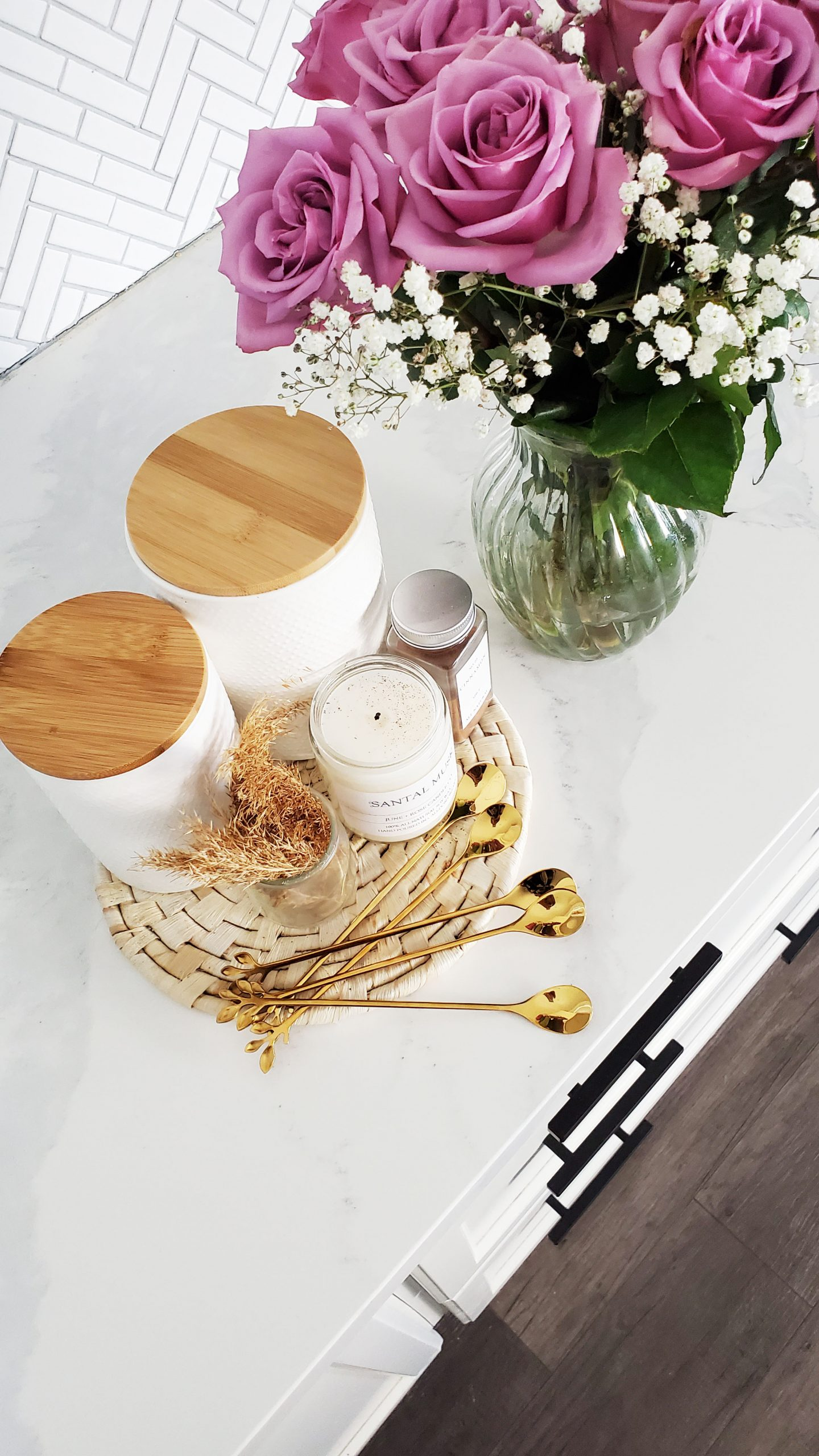 coffee station - modern cabinet handles